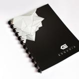 Esquoia Notebook černý s plastovou vazbou