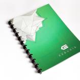 Esquoia Notebook zelený plastový