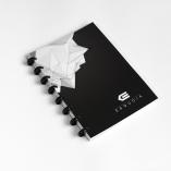 Esquoia A5 Notebook Červný s plastovou vazbou