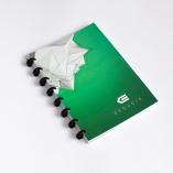 Esquoia A5 Notebook Zelený s plastovou vazbou