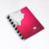 Esquoia A5 Notebook Červený s plastovou vazbou