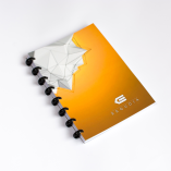 Esquoia A5 Notebook Žlutý s plastovou vazbou