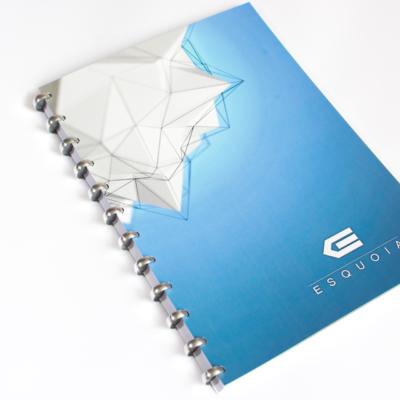 Esquoia Notebook Modrý s hliníkovou vazbou